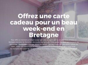 Offrez un chèque-cadeau week-end en chambre d'hôtes en Bretagne