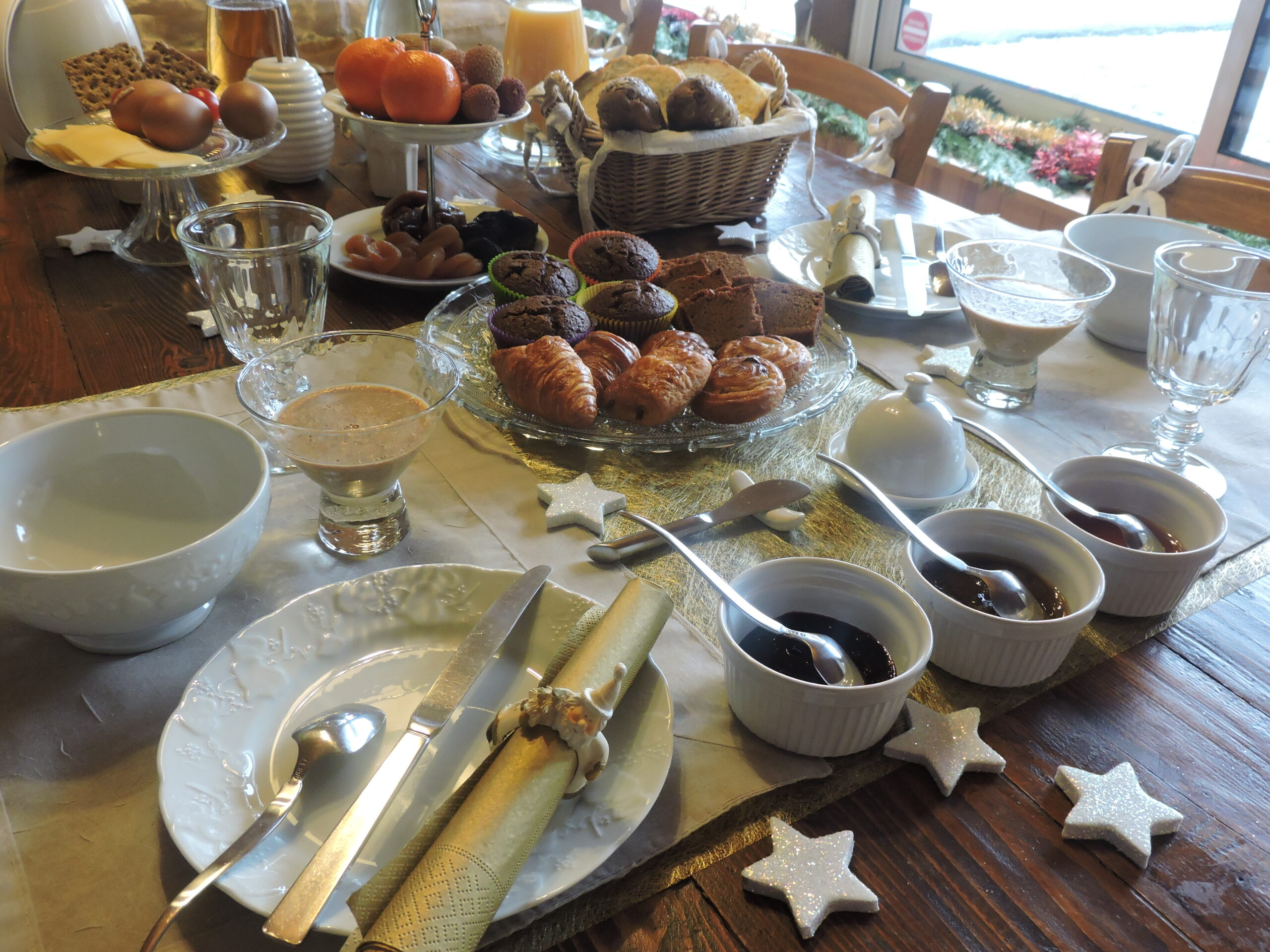 Bed and Breakfast : des confiseries et des douceurs ……