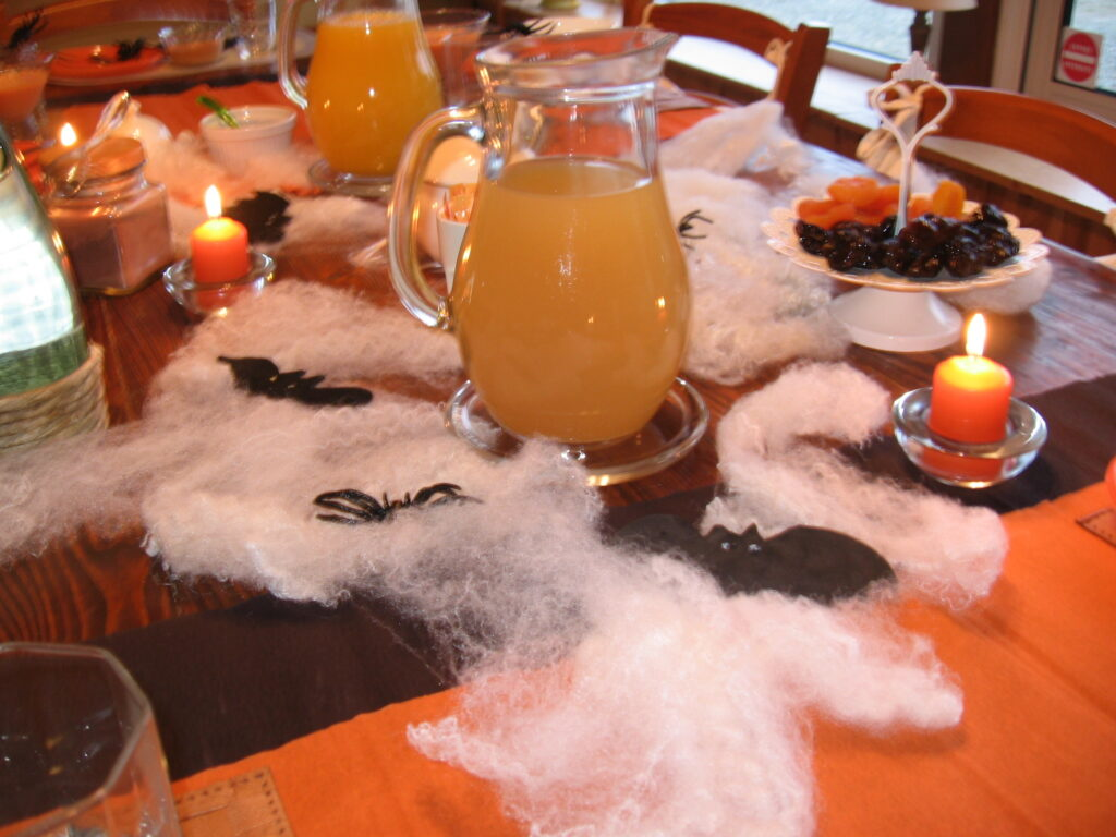 table d'halloween au domaine des camelias